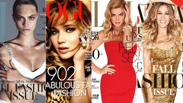 All the fashion magazines that are released for Fall 2013--yes. FINALLY.