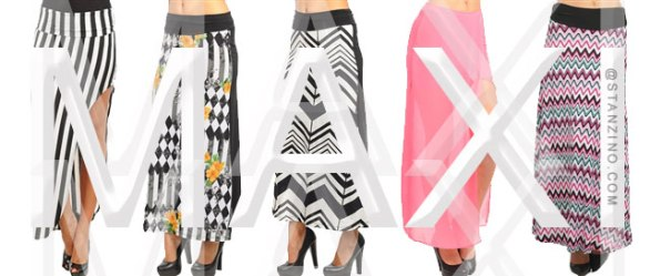 Shop Maxi's @Stanzino.com for the Summer and Fall seasons of 2013. Keeping those legs elongated is never a bad thing.