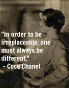 Coco Chanel has a way with words, mix it with her fashion design and impact on women's style--then you understand her.