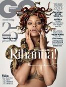 Rihanna's GQ Cover: and It's artistically---AMAZING. Redoing the Medusa look is very Versace of her.