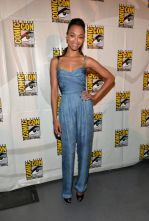 Zoe Saldana in Balmain Jumpsuit, @ComicCon. How gorgeous she always looks! And on top of that she makes high fashion seem so devastatingly comfortable.