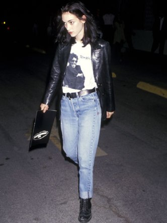 Winona Ryder knew how to mix goth and bad girl, effortlessly.