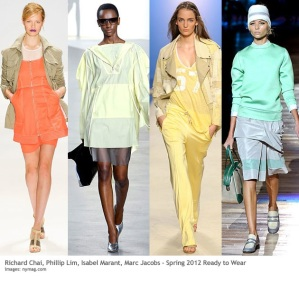 Sporty, mixed with pastels, a look that will be hot for Fall 2014