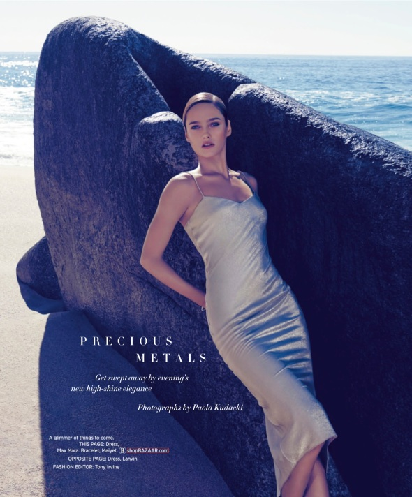 Karmen Pedaru by Paola Kudacki for Harper's Bazaar March 2014 - Precious Metals