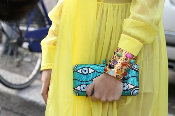 Sylvia Toledano Byzantine cuff, seen at Milan Fashion Week Fall/Winter 2014-2015