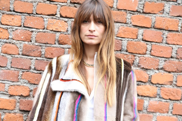 Caroline de Maigret's chain necklace, seen at Milan Fashion Week Fall/Winter 2014-2015