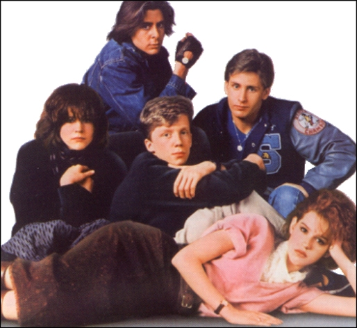 Film The Breakfast Club (1985)  Directed by John Hughes .... Genre: Drama Plot Outline: Five high school students from completely different backgrounds meet in Saturday detention, and the results change their lives forever  Emilio Estevez.... Andrew 'Andy' Clark (C, Right) Anthony Michael Hall.... Brian Ralph Johnson (C) Judd Nelson.... John Bender (Top) Molly Ringwald.... Claire Standish (Bottom) Ally Sheedy.... Allison Reynolds (C, Left) free pic